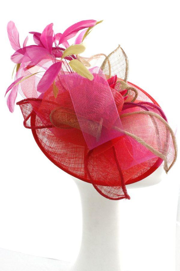 kapelusz koktajlowy bogato zdobiony