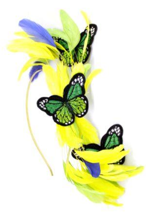 fascynator z motylami