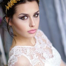 Stroik ślubny przepaska ślubne do włosów ozdoba we włosy Expose sesja z Weroniką Szmajdzińską i Red Room