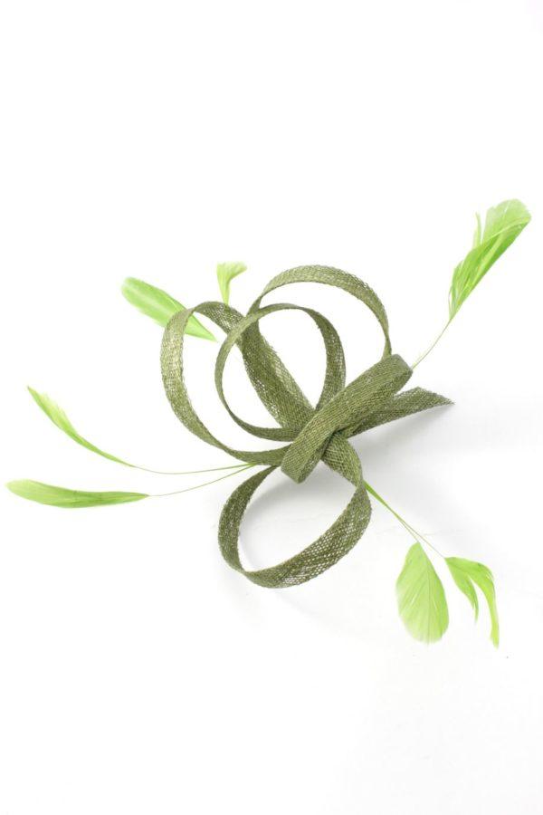 klasyczny zielony fascynator