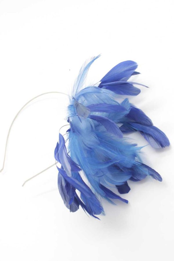 fascynator niebieski
