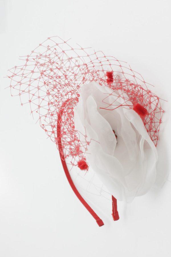 biało-czerwony fascynator