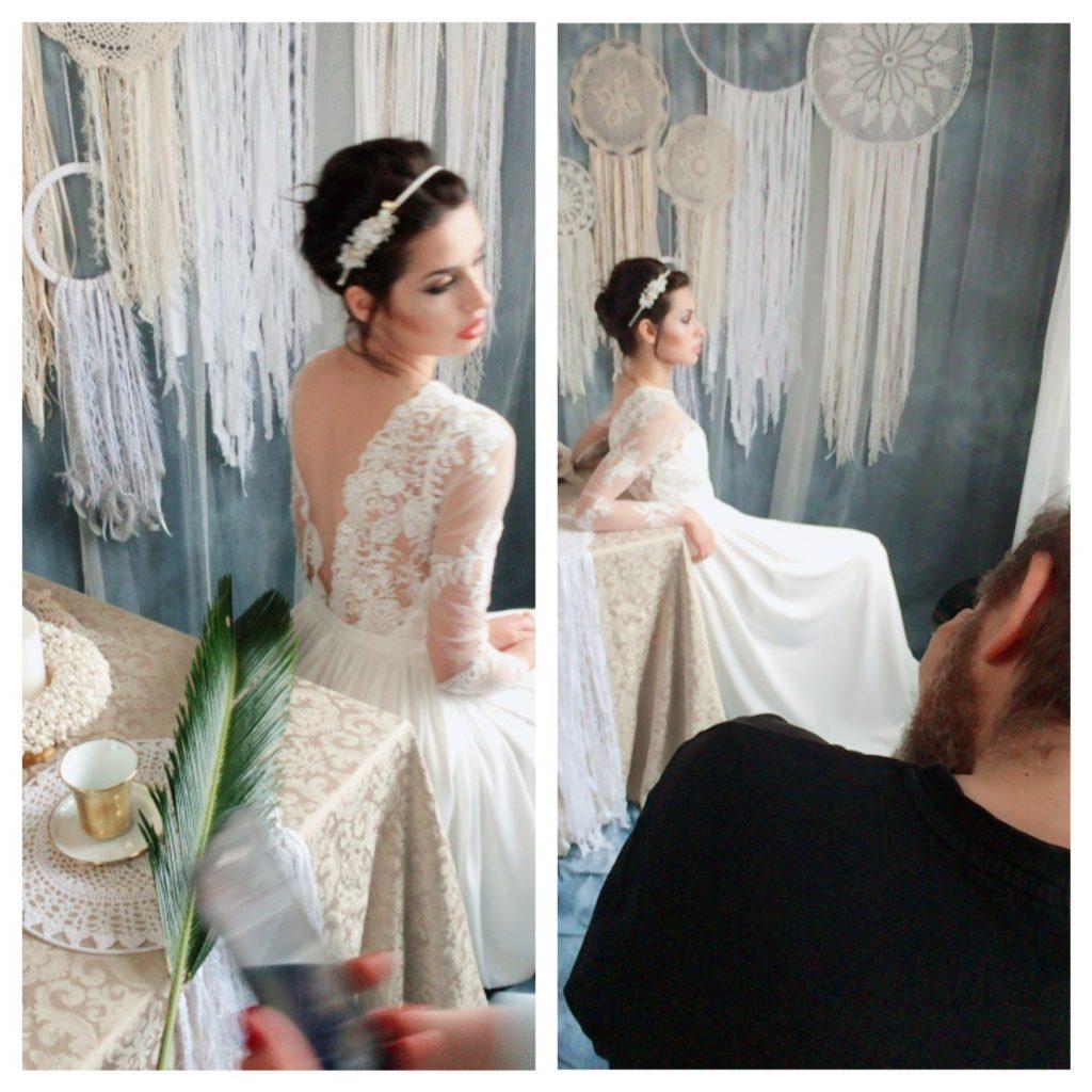 backstage sesji ślubnej i kolorowej 2017
