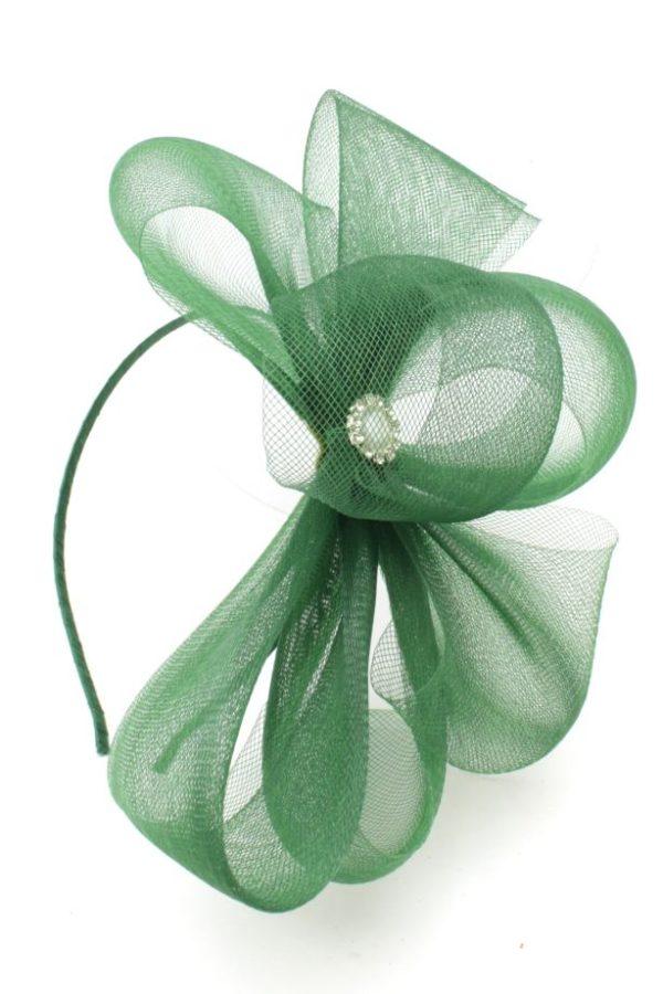 zielona kokarda z krynoliny