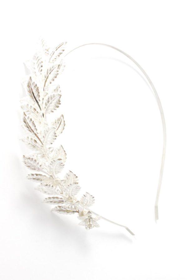 romantyczna opaska ze srebrnymi liśćmiromantyczna opaska ze srebrnymi liśćmiromantyczna opaska ze srebrnymi liśćmi