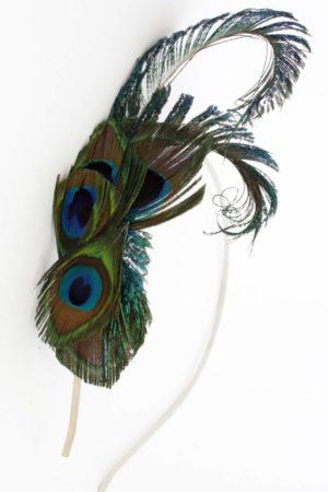 Peacoc ozdoba do włosów piórka pawie oka