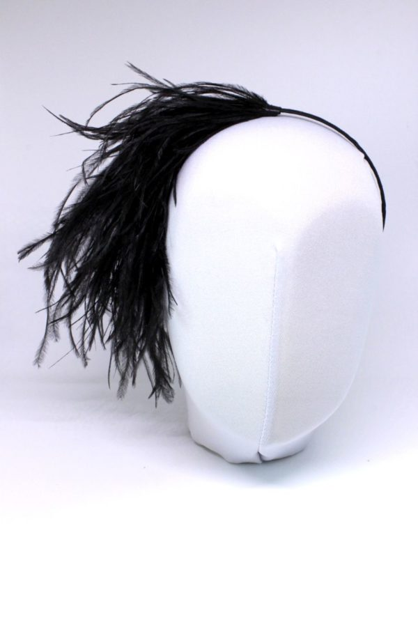 czarne pióra na opasce