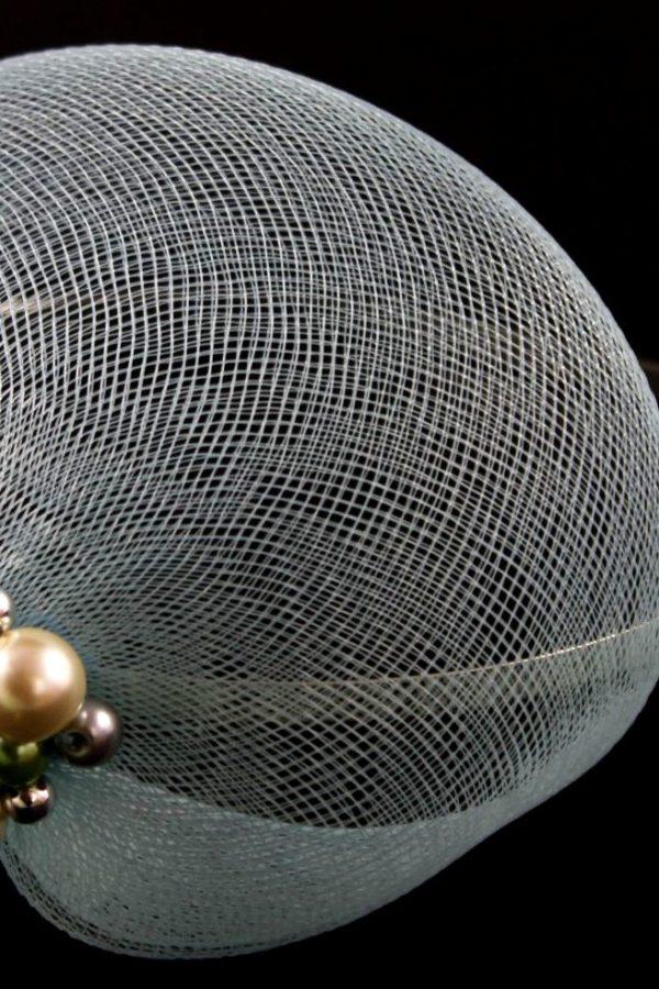 toczek z krynoliny z wyszyciem z perełek