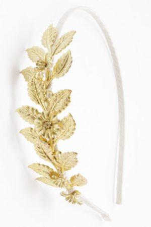 opaska z liśćmi i kwiatami
