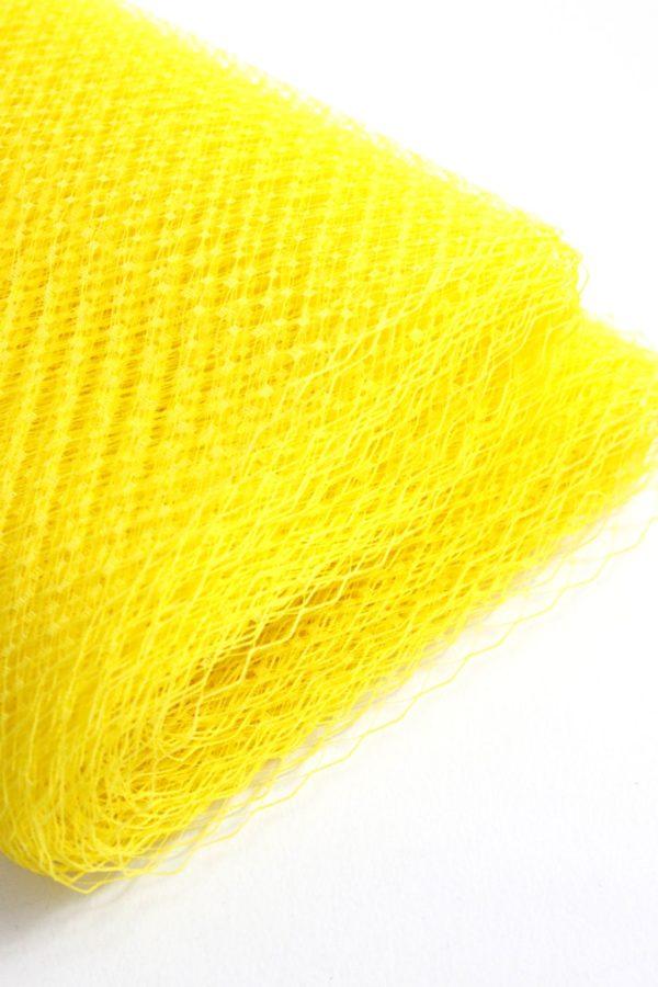 wesoła żółta woalka woaleczka do włosów