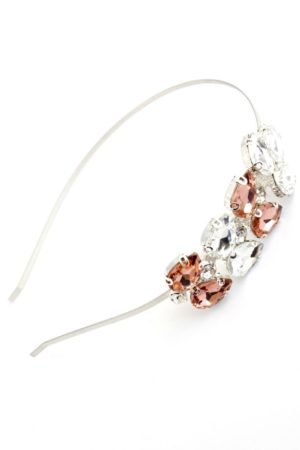 ozdoba glamour z lśniącymi kryształami