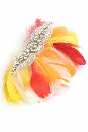 hiszpański wachlarzyk z kolorowych piór