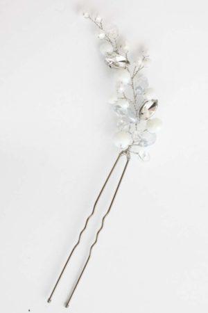 stroik śłubny do włosów delikatny z kryształkami