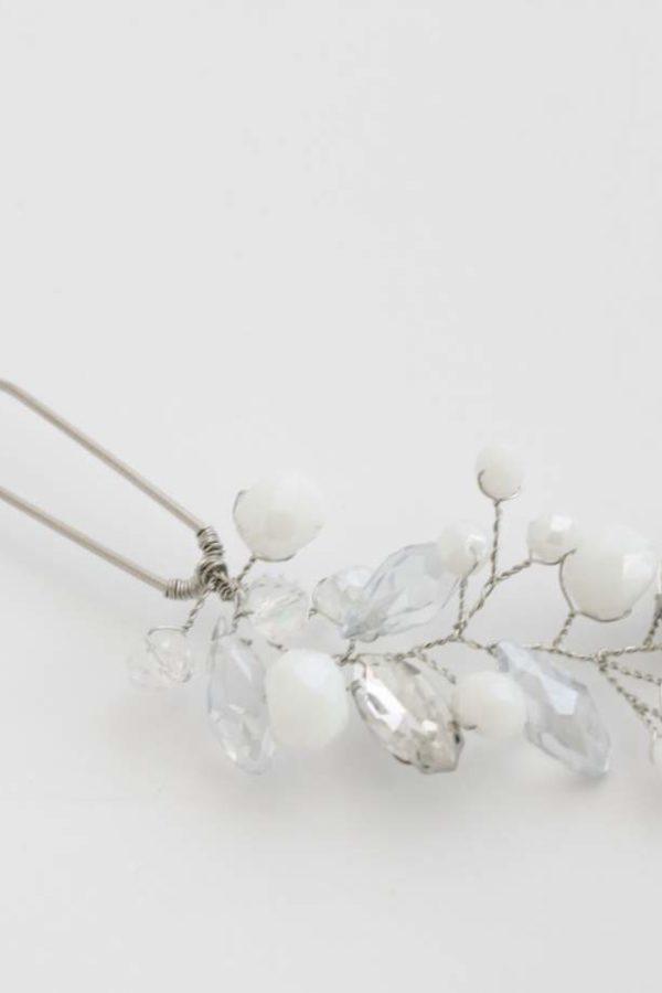 stroik ślubny do włosów delikatny z kryształkami