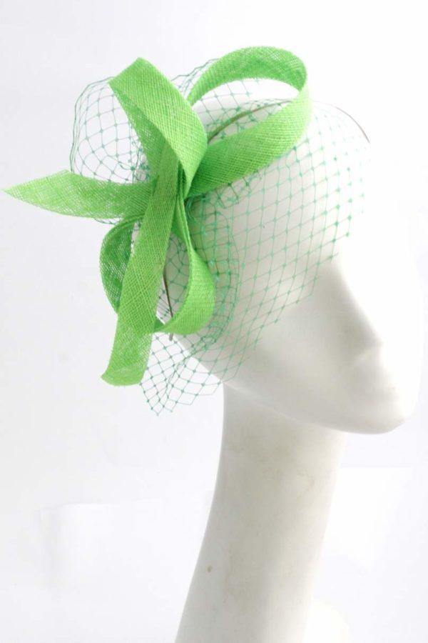stroik z woalką zielony KROKUS