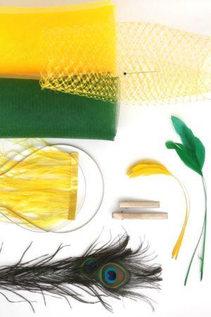 fascynator modniarski zestawy DIY