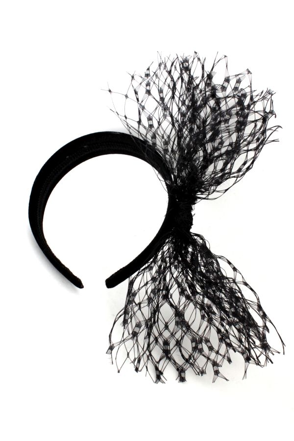 ozdoba do włosów czarna woalka na pogrzebexpose