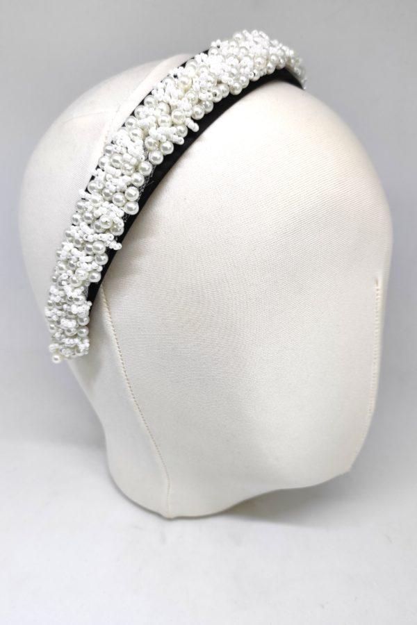 opaska szeroka z perełkami