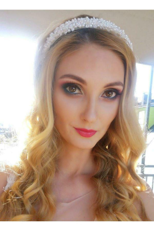 opaska z perełkami modelka Joanna bąk wizazystka
