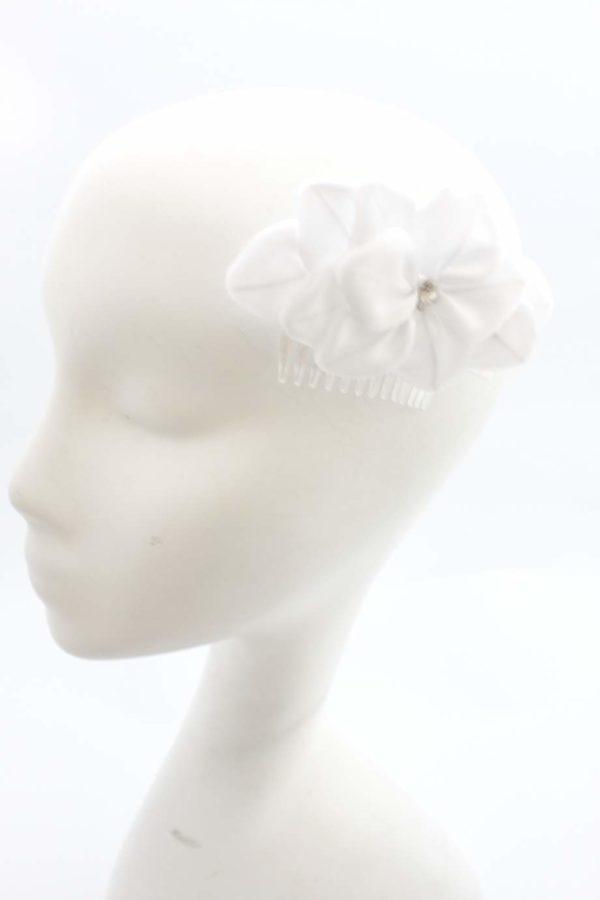 ashla 1 grzebyk biały kwiat