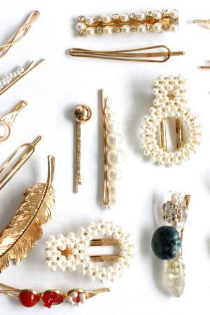 spineczki perełkowe różne złoto kremowe tanio