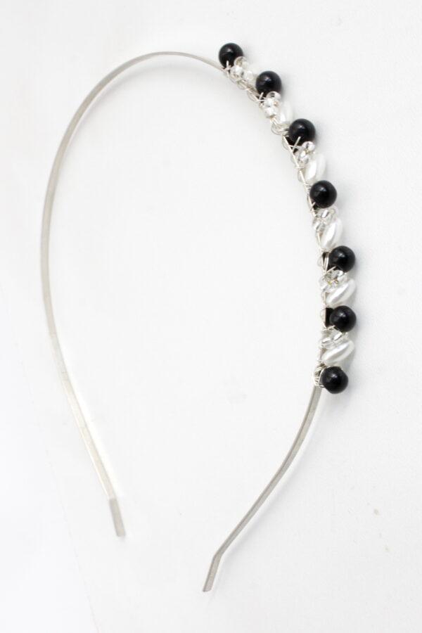 frilla czarna opaska z kryształkami