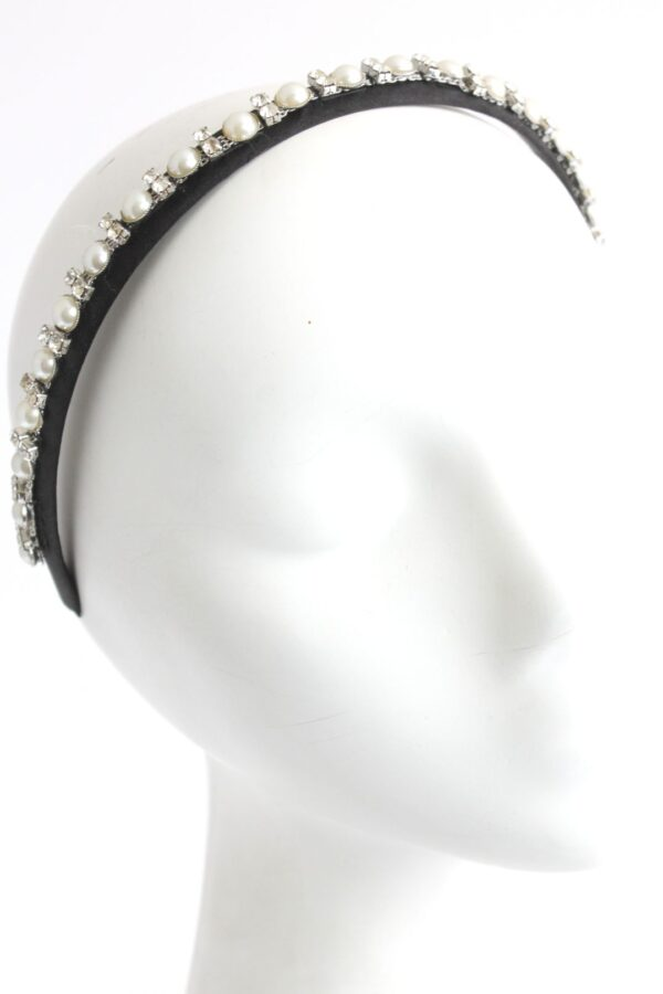 tyra 2 opaska z perełkami i cyrkoniami