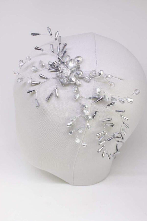 glitz 2 przypinka stroik w srebrnych odcieniach