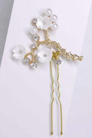 cuore 1 kokówka złota z kwiatuszkami